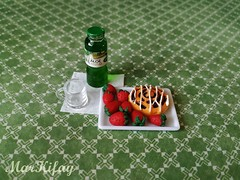 healthy lifestyle breakfast (MarKifay) Tags: breakfast drink house miniature puppet 16 doll clay polymer food