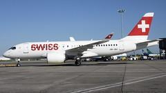 HB-JBH (Dub ramp) Tags: hbjbh swiss cs100 a220100 a220 dublin airport dub eidw sunshine sunny
