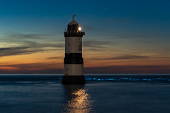 Bioluminescent Surf (Mike A Mckenna) Tags: bioluminescent plankton night surf longexposure lighthouse stars