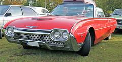 1962 Ford Thunderbird (crusaderstgeorge) Tags: crusaderstgeorge classiccars cars americancars americanclassiccars americancarsinsweden 1962fordthunderbird 1962 ford thunderbird redcars högbo sweden sverige cool veterancar
