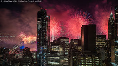Macy's 2019 July 4 Fireworks (20190704-DSC01093-Edit) (Michael.Lee.Pics.NYC) Tags: newyork fireworks macys july4 independenceday aerial hotelview millenniumhilton night longexposure composite eastriver lowermanhattan brooklyn brooklynbridge manhattanbridge bridge architecture cityscape sony a7rm2 fe24105mmf4g zeissloxia21mmf28