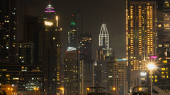 Dubai Marina (maksudulpunom) Tags: dubai dubaimarina uae unitedarabemirates skyscrapers buildings citylife lights