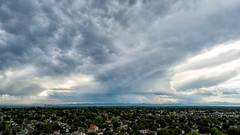 July 1, 2019 - Stormy skies around Thornton. (ThorntonWeather.com)
