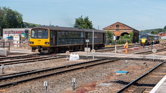 143621 & 802102 - Exeter St David's (Kev's Railway Pix) Tags: 143621 802102 bmu bimode dmu devon edmu england exeter exeterstdavids gwr greatwesternrailway hitachi iet intercityexpresstrain pacer class143 class802 railway railwaystation