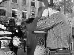 A look at the shop window (GiulioBig) Tags: città vetrine people men riflessi stile blackwhite spangen southholland netherlands