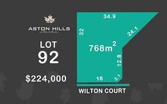 Lot 92, Wilton Court (Aston Hills), Mount Barker SA