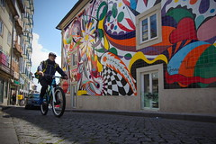 Handpainted tiles (chipje) Tags: streetart mural handpaintedtiles joanavasconcelos bicyclecourier porto portugal