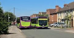 YJ12 GWG & YJ12 GWF, Ipswich Buses Optare Tempos 92 & 91, Byron Road, 5th. July 2019. (Crewcastrian) Tags: ipswich buses ipswichbuses transport byronroad optaretempo yj12gwg 92 gwf 91 yj12gwf