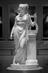 Proclaimer of Heroes (BenBuildsLego) Tags: antonio canova marble sculpture statue sony art a6000 beautiful cleveland museum lyre greek goddess roman neoclassical classical escultura myth mythology mythological poet black white
