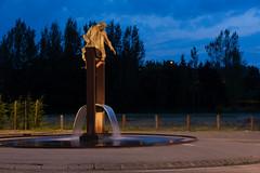 Revel - Statue de Paul riquet (WE-EF FRANCE SUISSE) Tags: revel weef gobo flc230gobo flc230 flc200 led projection statue eau canaldumidi midi canal fontaine