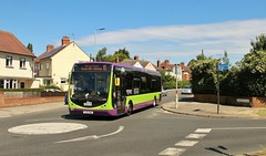 YJ12 GWA, Ipswich Buses Optare Tempo 87, Shakespeare Road, 5th. July 2019. (Crewcastrian) Tags: ipswich buses ipswichbuses transport shakespeareroad optaretempo yj12gwa 87