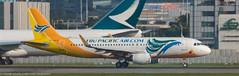 Cebu Pacific A-320 leaving HKG (Alaskan Dude) Tags: travel asia hongkong hongkongairport planespotting planewatching aircraft airplane airplanes airlines aviation