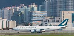 Cathay Pacific 747 Cargo at HKG (Alaskan Dude) Tags: travel asia hongkong hongkongairport planespotting planewatching aircraft airplane airplanes airlines aviation