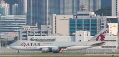 Qatar 747 Cargo at HKG (Alaskan Dude) Tags: travel asia hongkong hongkongairport planespotting planewatching aircraft airplane airplanes airlines aviation