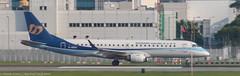 Mandarin Airlines EMB-190 at HKG (Alaskan Dude) Tags: travel asia hongkong hongkongairport planespotting planewatching aircraft airplane airplanes airlines aviation