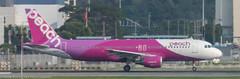 Peach A-320 leaving HKG (Alaskan Dude) Tags: travel asia hongkong hongkongairport planespotting planewatching aircraft airplane airplanes airlines aviation