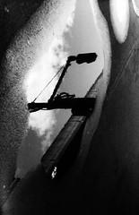 BRIDGING (Dinasty_Oomae) Tags: leicaiiia leica ライカiiia ライカ 白黒写真 白黒 monochrome blackandwhite blackwhite bw outdoor 東京都 東京 tokyo 江東区 kotoku 水たまり ponding 反射 reflection