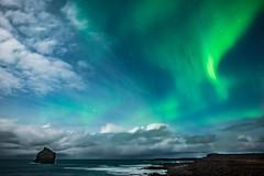 Aurora over Eldey Island (VChengPhotography) Tags: iceland aurora longexposure nightphotography northernlights