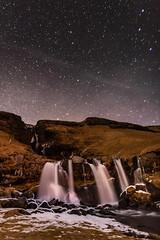 Nightsky at Gluggafoss (VChengPhotography) Tags: iceland nightphotography stars waterfalls