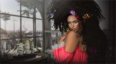 Mother's Daughter (tarja.haven) Tags: addams revoul revoulskin vanity offshoulderdresstop hair curlyhair mermaidcove thevintagefair photography photo pixelart portrait tarjahaven event avatar secondlife sl digitalart fashion virtual