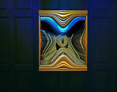 Pinch Me (DDM Imaging) Tags: art artist muesum abstract abstracts photoshop color colors colour colours illusion blue statue wood exhibit