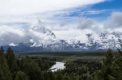 Grand Tetons National Park (benereshefsky) Tags: travel snow mountains nature clouds landscape nationalpark grand wyoming grandtetons tetons naturalbeauty nationalparks grandtetonsnationalpark travelphotography travelphotographer