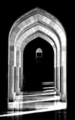 fifty shades of dark and light (ISO 69) Tags: sultan qaboos grand mosque moschee oman muscat blackandwhite bw blackwhite schwarzweiss sw