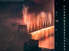Macy's 2019 July 4 Fireworks (20190704-DSC09607) (Michael.Lee.Pics.NYC) Tags: newyork fireworks macys july4 independenceday aerial hotelview millenniumhilton night longexposure lowermanhattan eastriver brooklyn brooklynbridge architecture cityscape sony a7rm2 fe24105mmf4g
