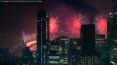 Macy's 2019 July 4 Fireworks (20190704-DSC01151-Edit) (Michael.Lee.Pics.NYC) Tags: newyork fireworks macys july4 independenceday aerial hotelview millenniumhilton night longexposure lowermanhattan eastriver brooklyn brooklynbridge architecture cityscape sony a7rm2 zeissloxia21mmf28
