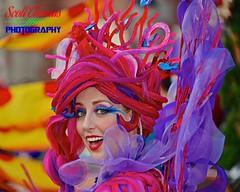 Mermaid Dancer (Scott Thomas Photography) Tags: castmember closeup cm colorful colors dancer festivaloffantasy florida littlemermaid magickingdom orlando parade smile travel vacation waltdisneyworld woman young nikond750 afsnikkor28300mmf3556gedvr eyes costume