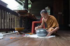 Wat Pa Baan Taad Udon Thani, Thailand July2019 (nae2409) Tags: monk buddhism ricoh gr2 thailand