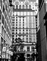Where do I look and what do I see? (Marcia Portess-Thanks for a million+ views.) Tags: centro downtown canada oldgranddame grande big calle street ciudad city gray grey monochrome monotone blancoynegro byn bw blackandwhite tunnelvision signs lamps view perspectiva perspective concrete fenetre ventanas windows laarquitectura edificios architecture buildings cathedralplace georgiastreetentrance hotel hotelvancouver vancouver marciaportess marciaaportess map whatdoisee wheredoilook