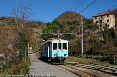 candy blue (Stefano Praz Paolini) Tags: amt fgc genova casella liguria a2 vicomorasso emu railcar ora predazzo