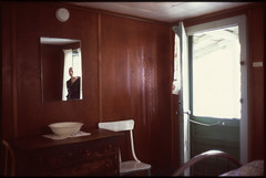 Self-portrait, Dunsmuir, CA (The 69th Dimension) Tags: film filmphotography 35mm analog selfportrait cabin dunsmuir reflection