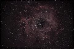 backyard astronomy 06 (planes, space, nature) Tags: ngc2244 ngc2237 ngc2238 ngc2239 ngc2246rosettenebulatakenfrommybackyardonmarch25th 2019 withacanoneos600d askywatcherstartravel120600anda3dprintedstarspikemask