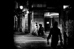 Shadows (TransientEye) Tags: barcelona catalunya catalonia españa spain night blackandwhite film leicam7 leica50mmf14summilux ilforddelta400 ilfordddx14 ei1600 1600 ei