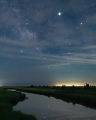 Starry Jersey Night (mhoffman1) Tags: gladeswildliferefuge jupiter mauriceriver milkyway sonyalpha southjersey astro astrophotography evening night river stars downetownship newjersey unitedstatesofamerica