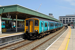 150208 150281 Cardiff Central (CD Sansome) Tags: cardiff central station swml south wales main line tfw transport for sprinter arriva amey keolis 150 150208 150281