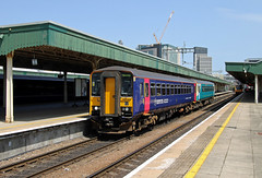 153369 153323 Cardiff Central (CD Sansome) Tags: cardiff central station swml south wales main line tfw transport for sprinter arriva amey keolis 153 153369 153323