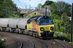70802 at Morpeth (stephen.lewins (1,000 000 UP !)) Tags: colas class70 70802 railways ecml morpeth northumberland