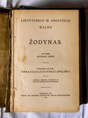 A Dictionary of the Lithuanian and English Languages, 1915 (03) (Thomas Cizauskas) Tags: book dictionary lithuania language memorabilia family antique