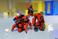 District 03 - Support drones DK-R1 and DK-R2 (Devid VII) Tags: devid vii moc lego diorama scene military darkred drones