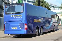 ( 2 ) Shearings Ltd . 922 BN17JUK . Bishop's Stortford Bus Interchange , Hertfordshire . Friday 05th-July-2019 . (AndrewHA's) Tags: hertfordshire bishopsstortford bus coach mercedes benz tourismo 922 bn17juk holiday tour back rear end