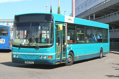 Arriva Kent Thameside / Arriva Southern Counties . 3512 DK55FXL . Harlow Bus Station , Essex . Friday 05th-July-2019 . (AndrewHA's) Tags: essex harlow bus arriva kent thameside southern counties vdl sb120 wright wrightbus cadet dk55fxl 3512 merseyside 2525 town service route 2 paper display staple tye circular