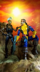 We're needed back at the Mansion (custombase) Tags: marvellegends xmen figures storm forge desert diorama toyphotography