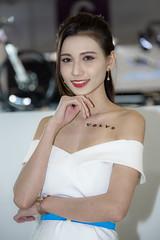 Car Show Girl. (Axim2013) Tags: nikon taiwan taipei xinyidistrict nikond810 myphotoproject portrait white color girl photo raykwa og250