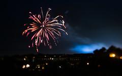 Draper Fireworks - Tilt Shift (yorgasor) Tags: fireworks hasselblad sony tiltshift 80mm night