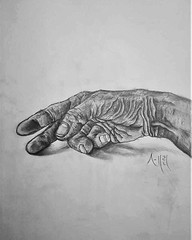 Worn Hand Drawing | Sketching | Karakalem (hediyelikkarakalem) Tags: charcoal charcoaldrawing drawings draw image pictures illustration graphics paintings sketching pencildrawing art myart graphic creative portrait abstractart life love realism cool awesome beautiful sketchbook artist lifestyle europe usa design birthday