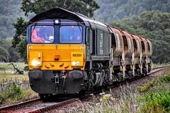 66305 @ Garve (A J transport) Tags: class66 freight engineers 66305 autoblasters drs kyleline balast railway trains scotland possession diesel