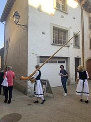 Alphorn players in Lavaux (Bex.Walton) Tags: switzerland lausanne travel grandvaux lavaux vineyard village swisswine wine winery alphorn terraces unesco
